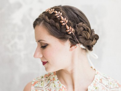 Etsy finds rose gold hair vine from acutedesigns