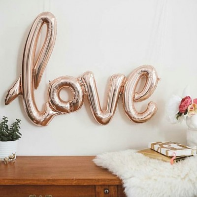 Etsy finds rose gold balloons from bagsoffavours