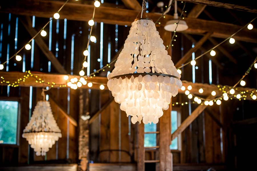 A Romantic & Rustic Barn Wedding With Crystal Chandeliers & Spring Florals: Ashleigh & Braden