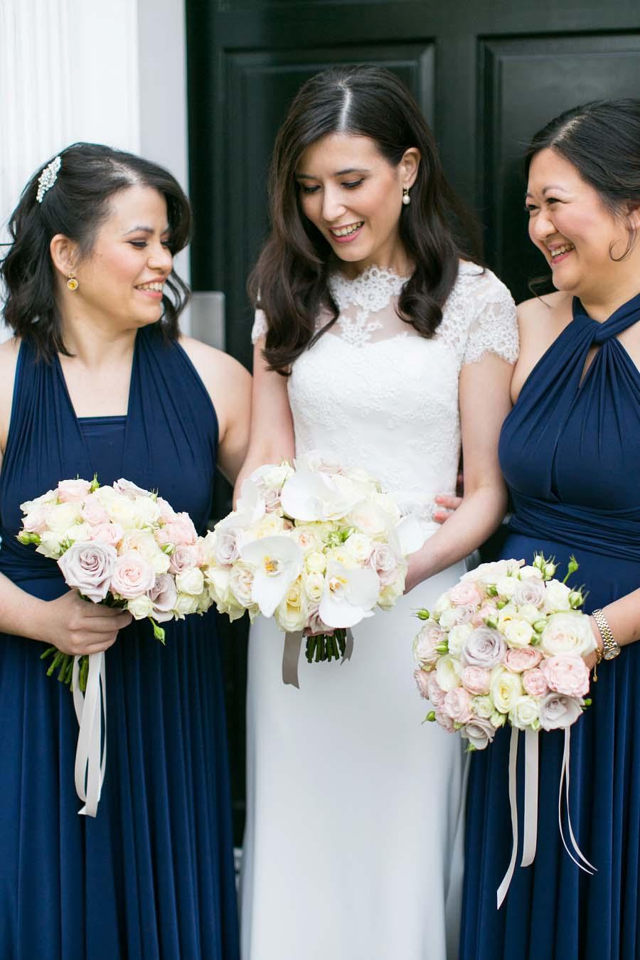 Elegant Classic Navy Pink White Wedding Alison Jason