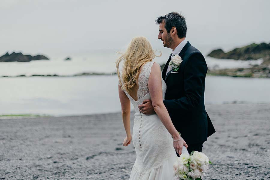 A Relaxed Beach Wedding in Devon With A Neutral Colour Scheme: Rebecca & Tom