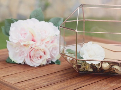 Etsy finds rose gold centrepieces from waen