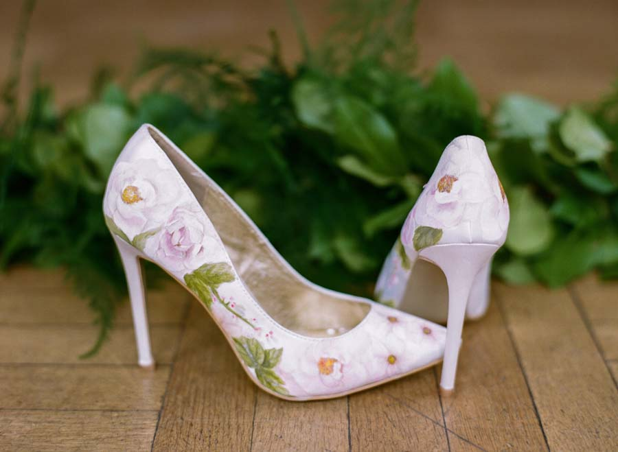 89737956c52 Elizabeth   Rose Design  Beautiful Hand-painted Floral Wedding Shoes