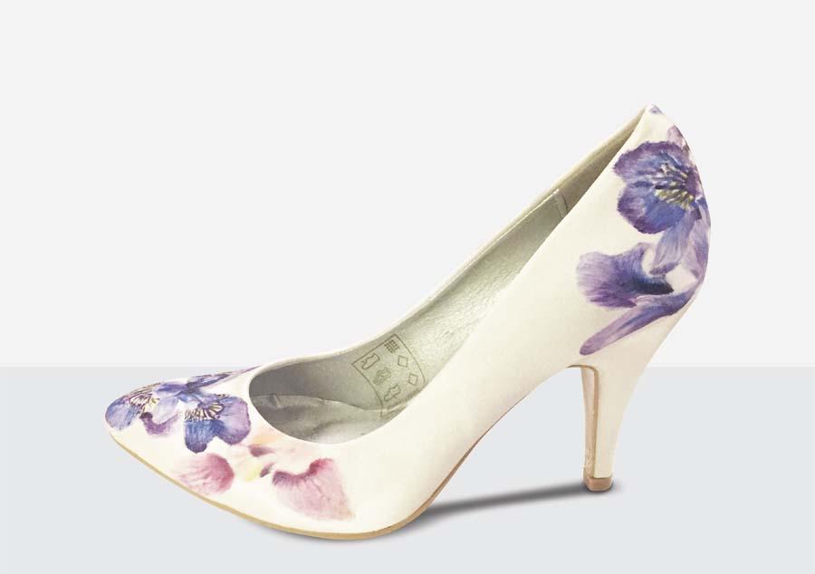 Hand Painted Wedding Shoes Uk
