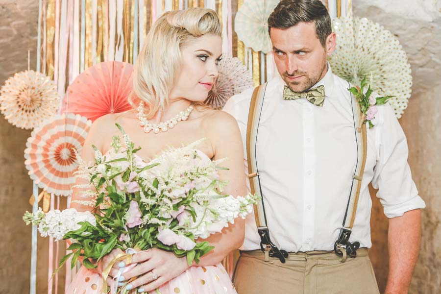 A Vintage Pastel, Robot Themed Wedding Shoot!