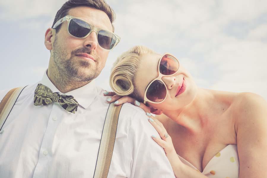 A Vintage Pastel Robot Themed Wedding Shoot