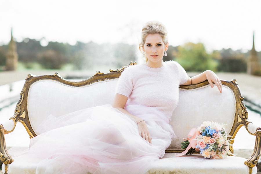 Parisian Chic! A Beautiful Rose Quartz & Serenity Styled Bridal Shoot