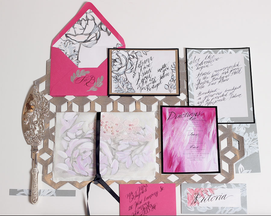 Crimson Letters: Contemporary Wedding Stationery with a Creative Twist