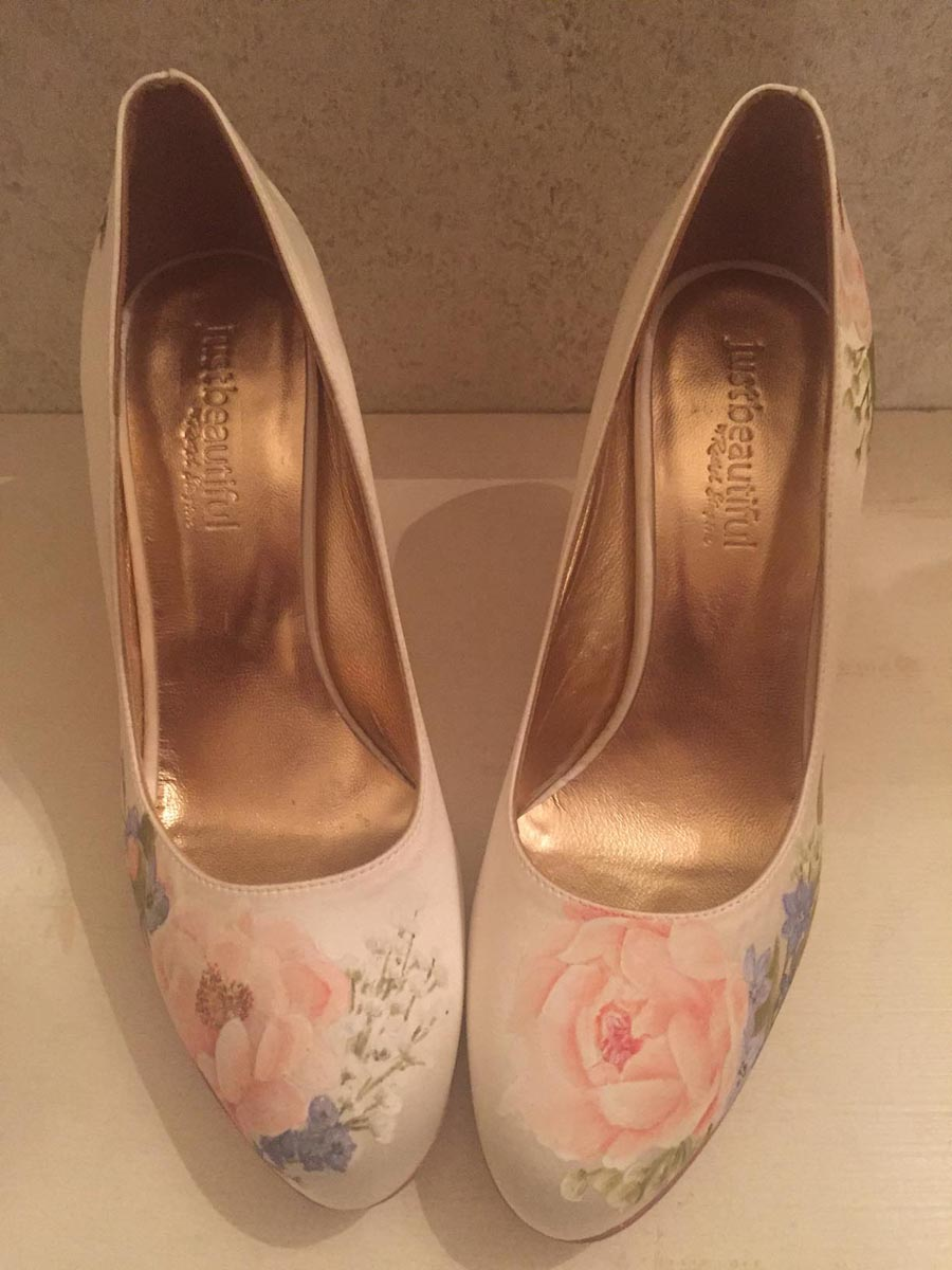 Elizabeth & Rose: Beautiful Hand-painted Floral Wedding Shoes