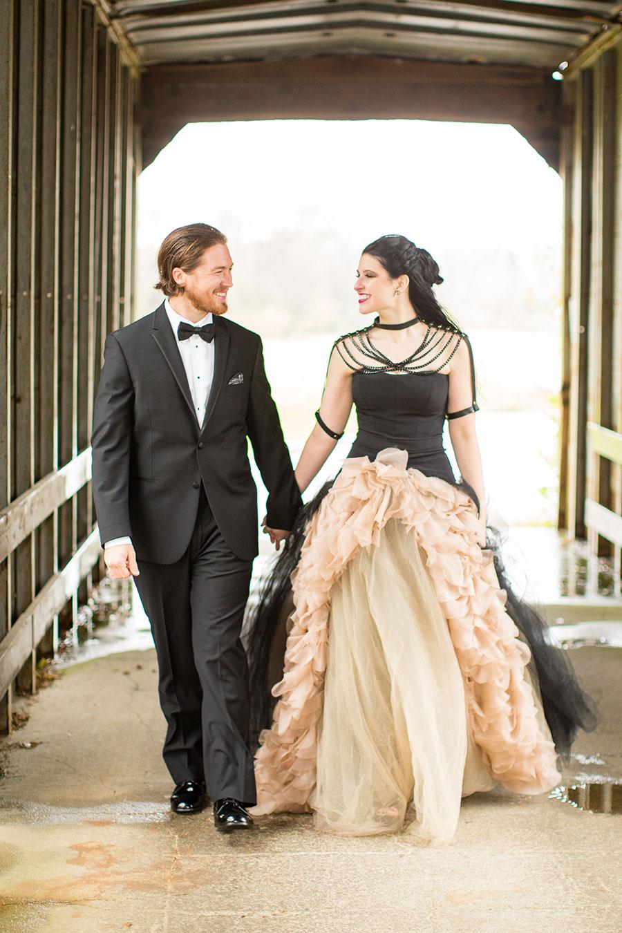 dark-sparkly-halloween-wedding-with-black-vera-wang-wedding-gown58
