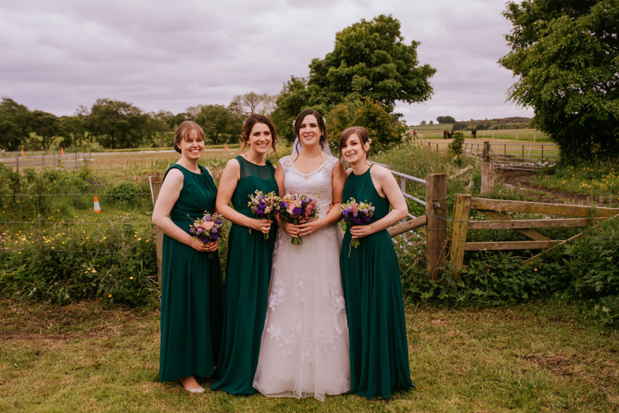 Eclectic DIY, Rustic Farm Wedding With Hunter Green Colour Scheme: Amy & Martin