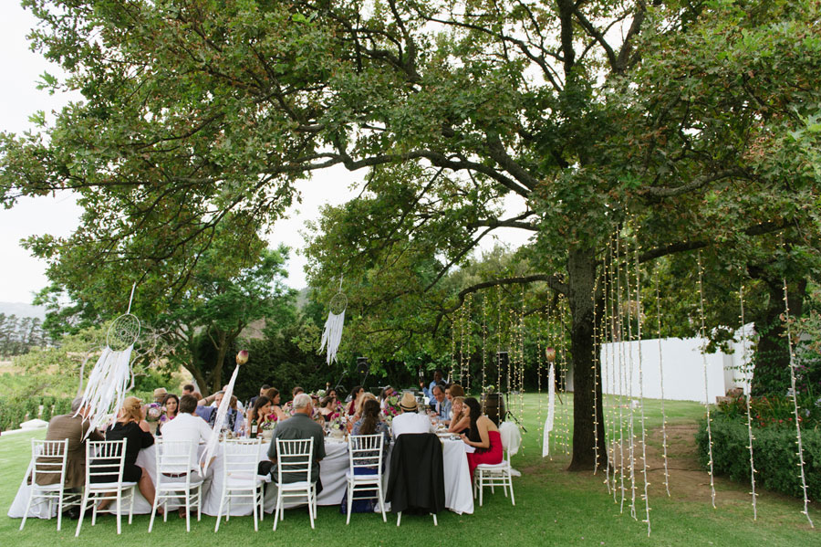 An Outdoor Fusion Wedding With Hanging Lights & Dreamcatchers: Piere & Merve