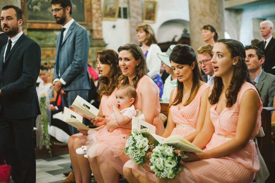 Elegant Peach, Italian Garden Wedding: James & Catherine