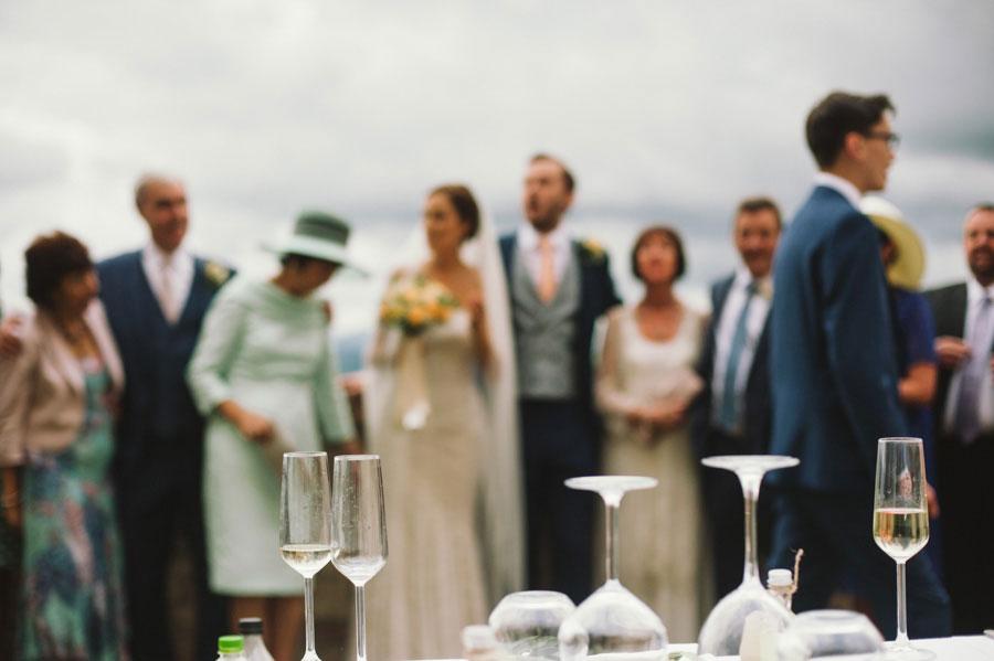 Elegant Peach, Italian Garden Wedding: James & Catherine