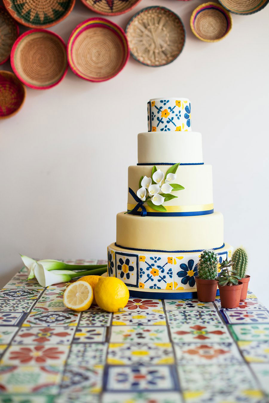 A Yellow & Blue, Authentic Mexican Inspired Bridal Shoot