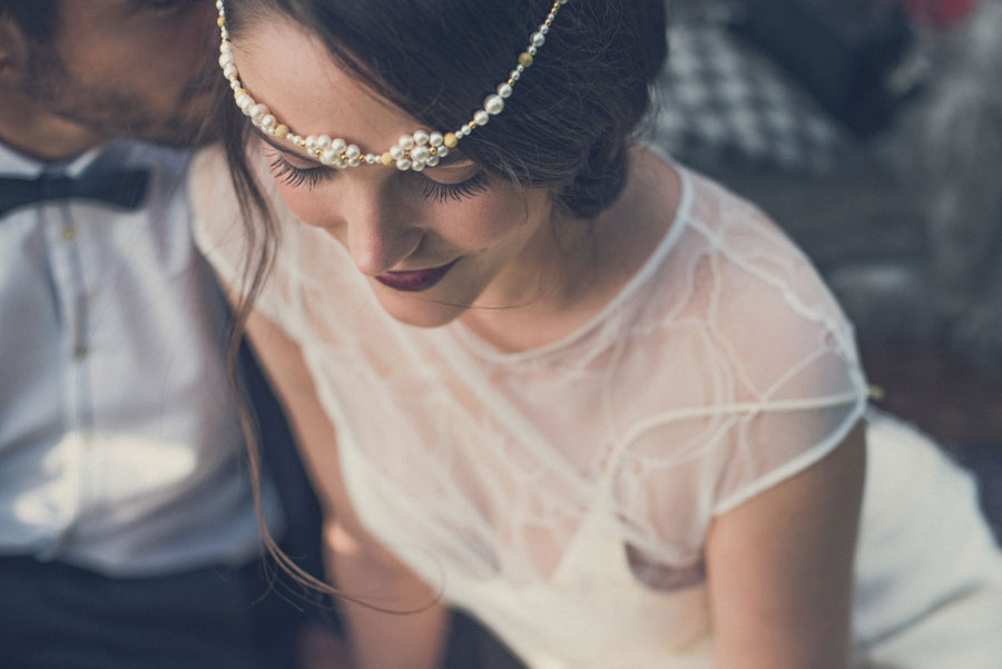 Glamorous 1930s House Party Wedding Shoot in Navy, Pink & Gold005