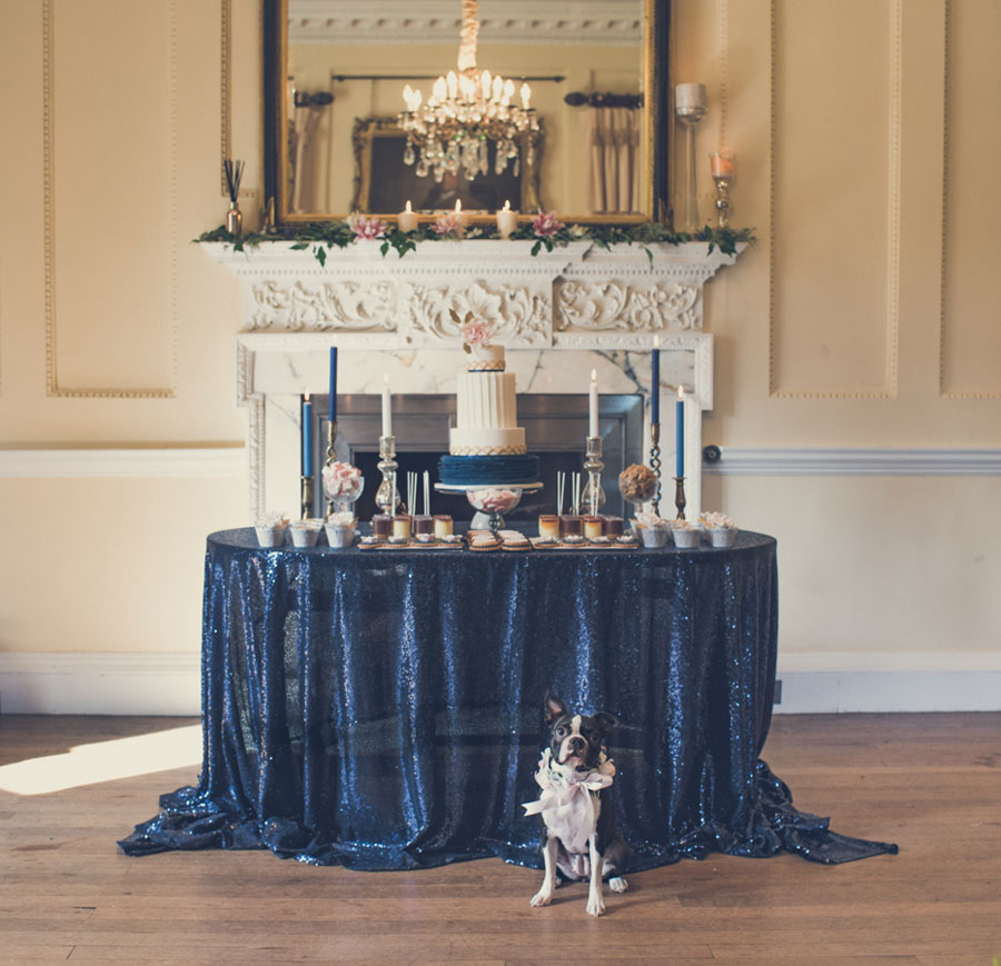 Glamorous 1930s House Party Wedding Shoot in Navy, Pink & Gold043