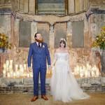 Off The Shoulder Lace Wedding Dress & Alternative Decaying Chapel Venue Wedding: Ella & Daniel