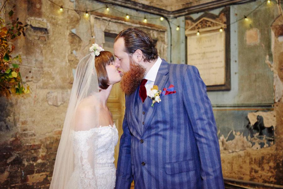 Alternative Wedding Dresses Nottingham : Wedding dress alternative decaying chapel venue ella