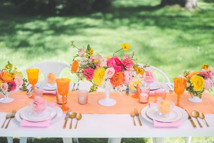 Yellow and Orange Tropical Inspiration for a Spring Wedding