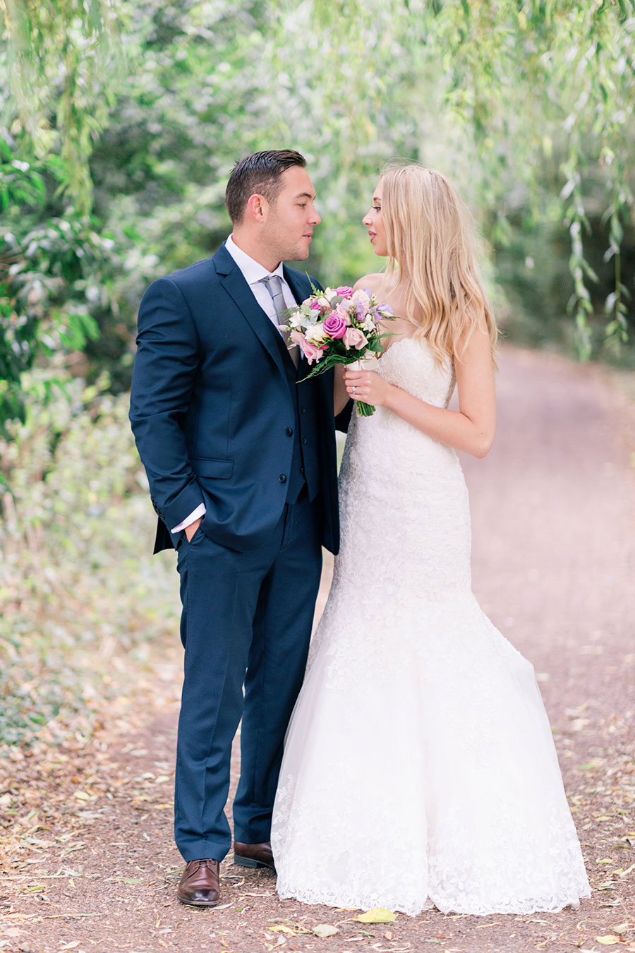 Romantic Pink, Neutral & Sparkle Wedding With Mori Lee Fishtail Gown: Hannah & Carl