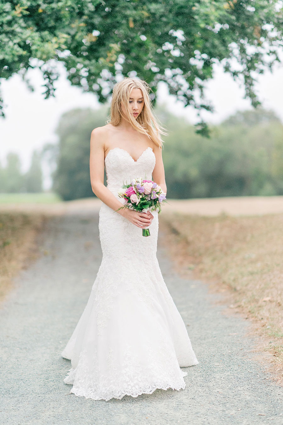 Romantic Pink Neutral Sparkle Wedding With Mori Lee