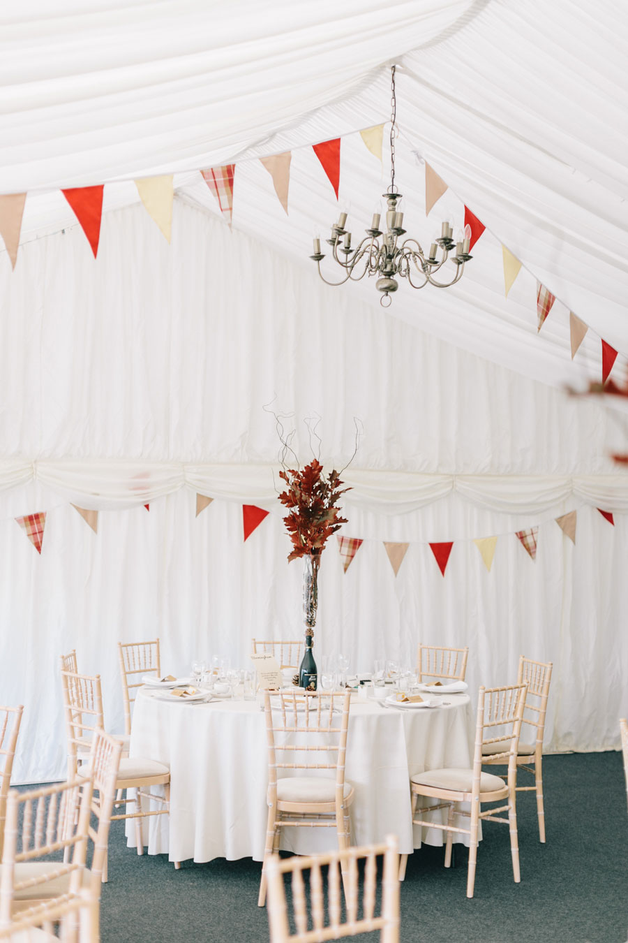 Rustic Bunting, Autumn Leaves & Pine Cones Wedding: Jenny & Joe