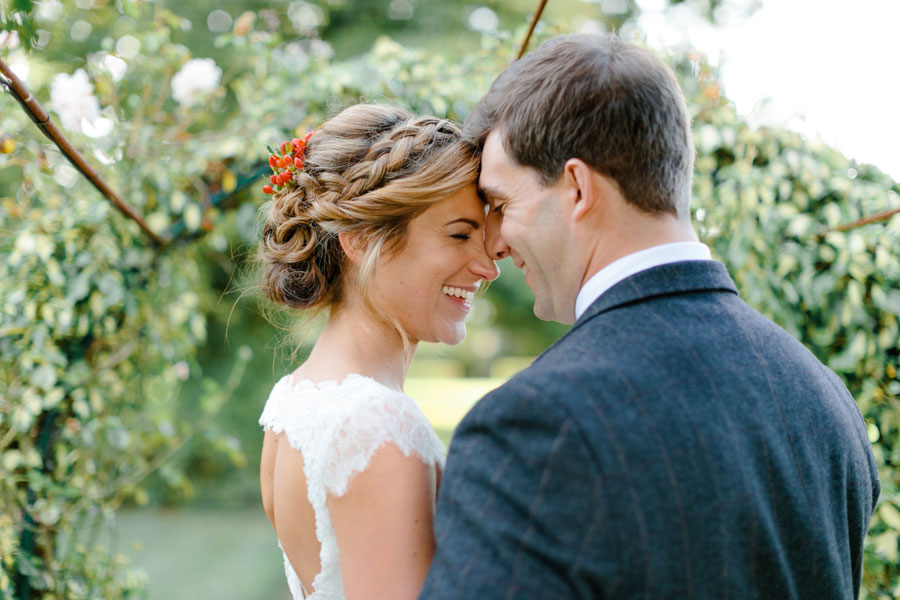 Rustic Bunting, Autumn Leaves & Pine Cones Wedding: Jenny & Joe