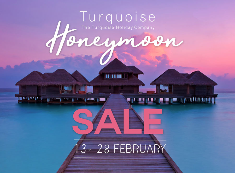 Save up to £6400 in the 2017 Turquoise Holidays Honeymoon Sale