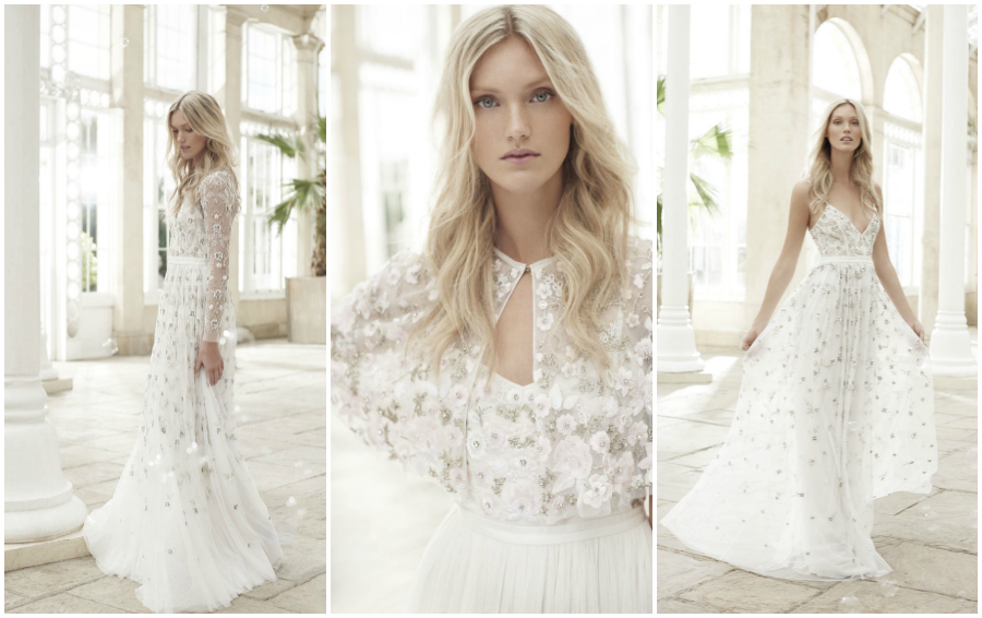 Wonderfully Romantic Wedding Dresses The Needle Amp Thread Spring Summer 17 Bridal Collection