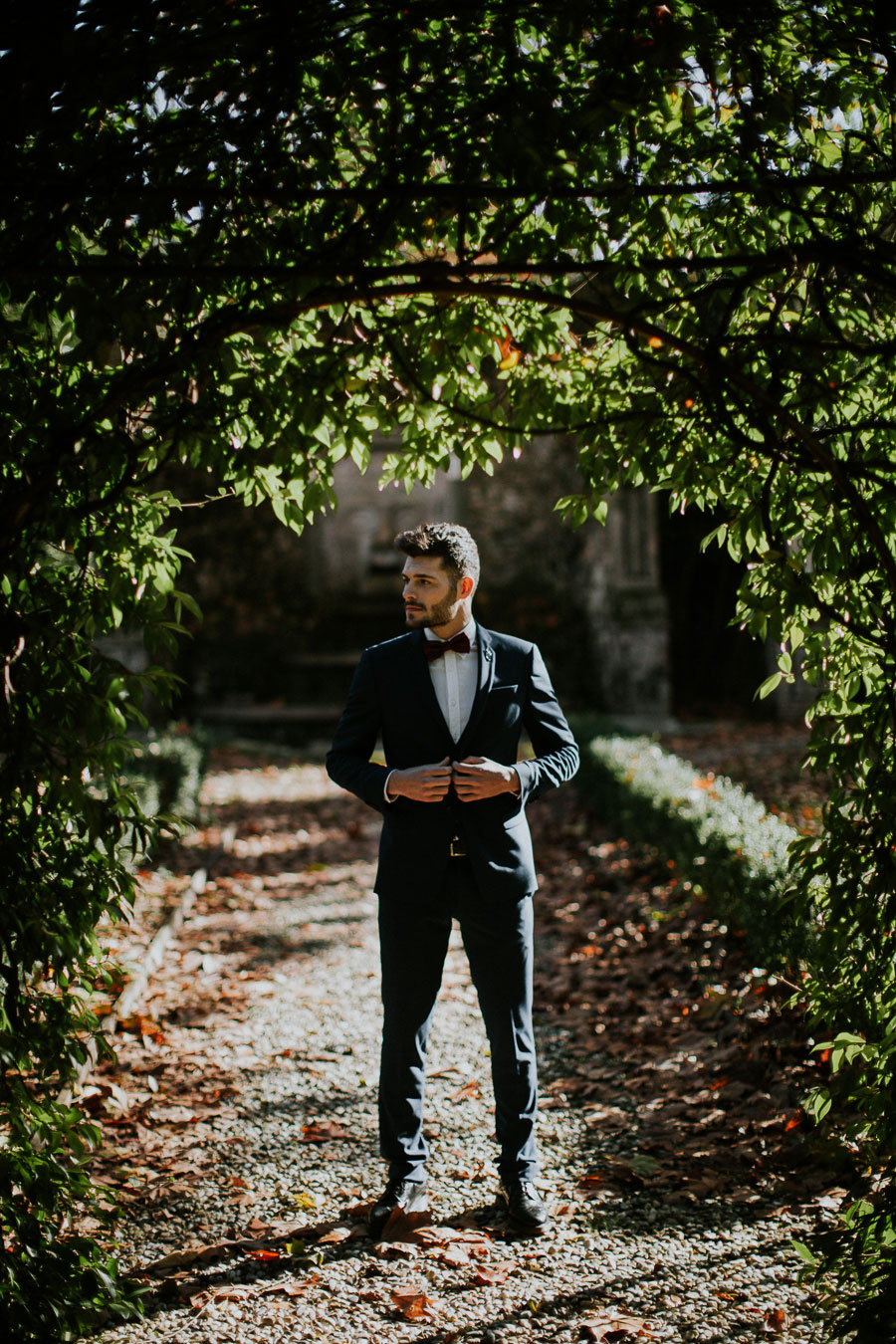 A Dark & Decadent Winter Bridal Shoot in 19th Century Tuscan Villa