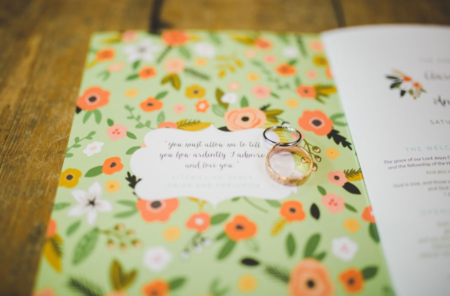 A Handmade, Vintage Inspired Wedding With Colourful Tissue Paper Backdrop