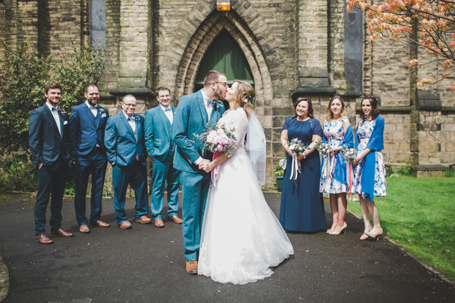 A Handmade, Vintage Inspired Wedding With Colourful Paper Tissue ...