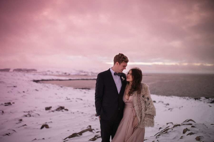 Romantic 'Edge of the World' Elopement on Fogo Island: Capen and Will
