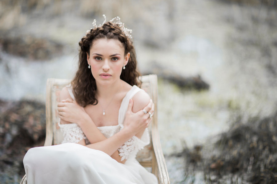 A Fine-art 'Ophelia' Inspired Bridal Editorial by Braid & Bloom