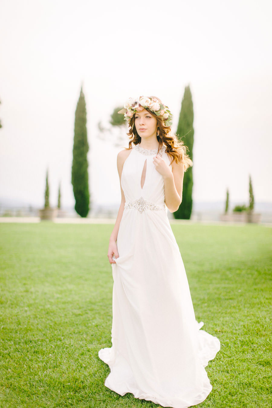 Blush, Rose & Green: A Truly Tuscan Inspired Wedding Shoot ...