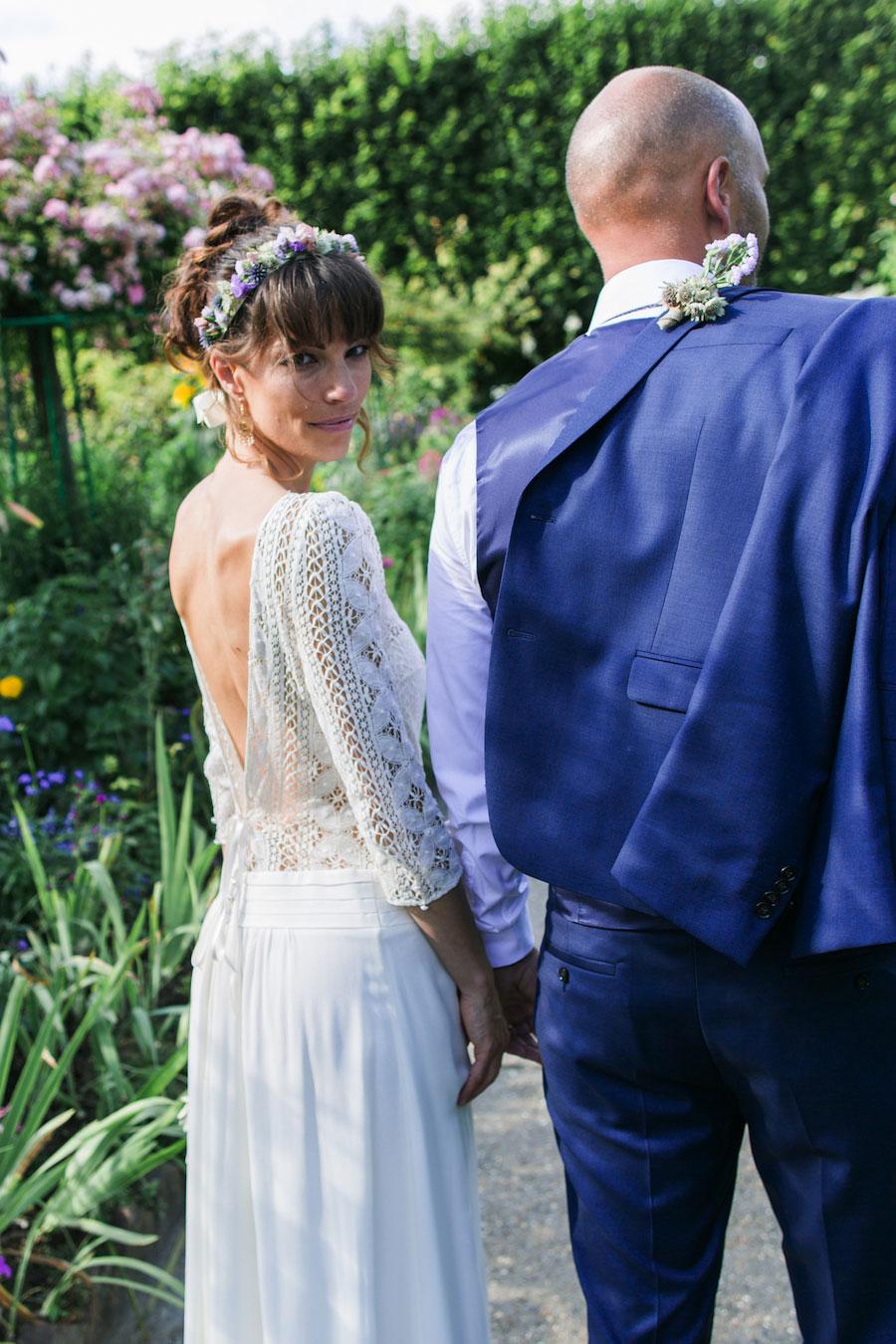 Chic Spring Bride In Laura de Sagazan Gown- Anne & Matthieu0051