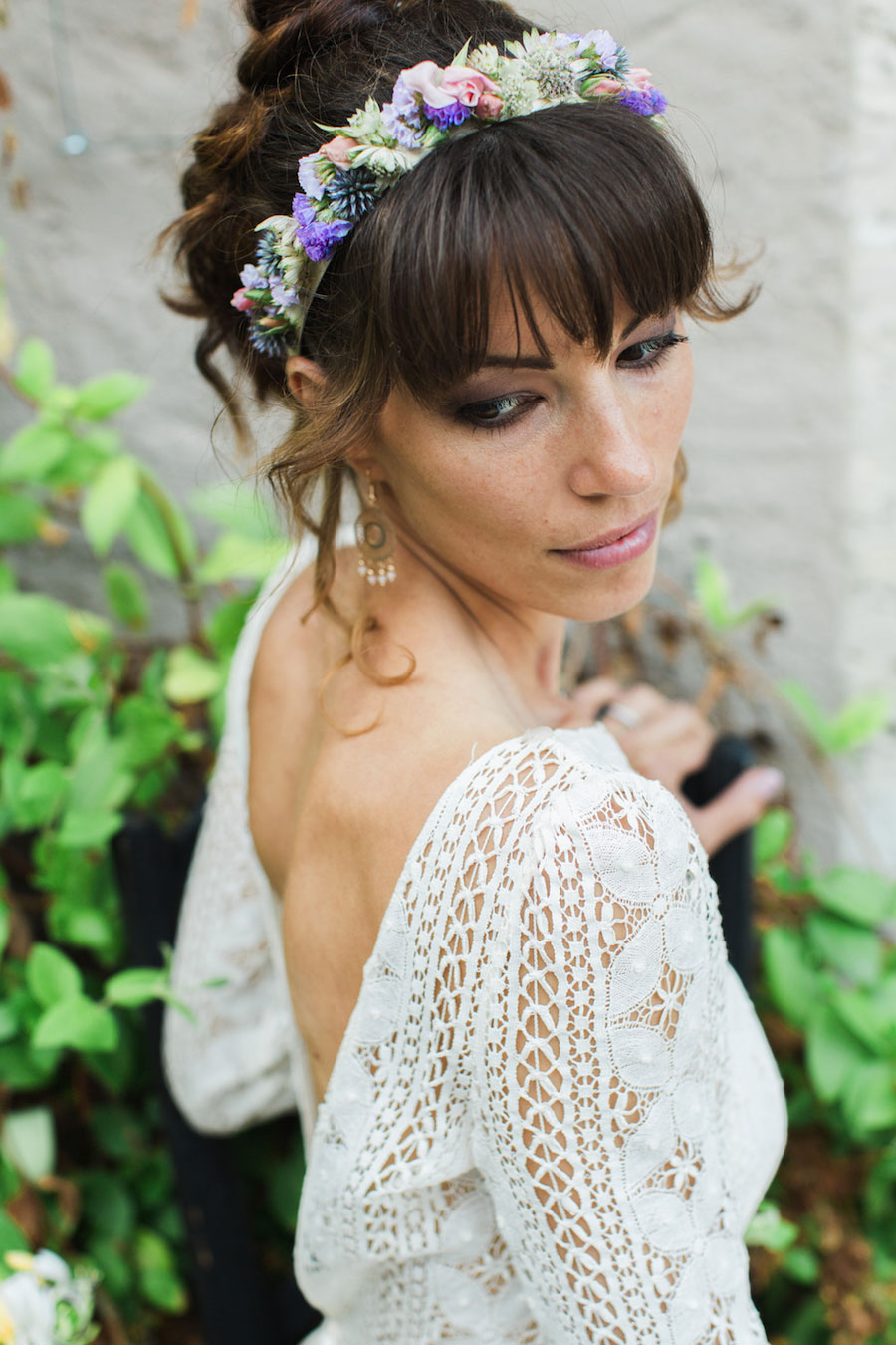 Chic Spring Bride In Laura de Sagazan Gown- Anne & Matthieu0070