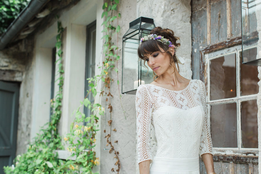Chic Spring Bride In Laura de Sagazan Gown- Anne & Matthieu0071