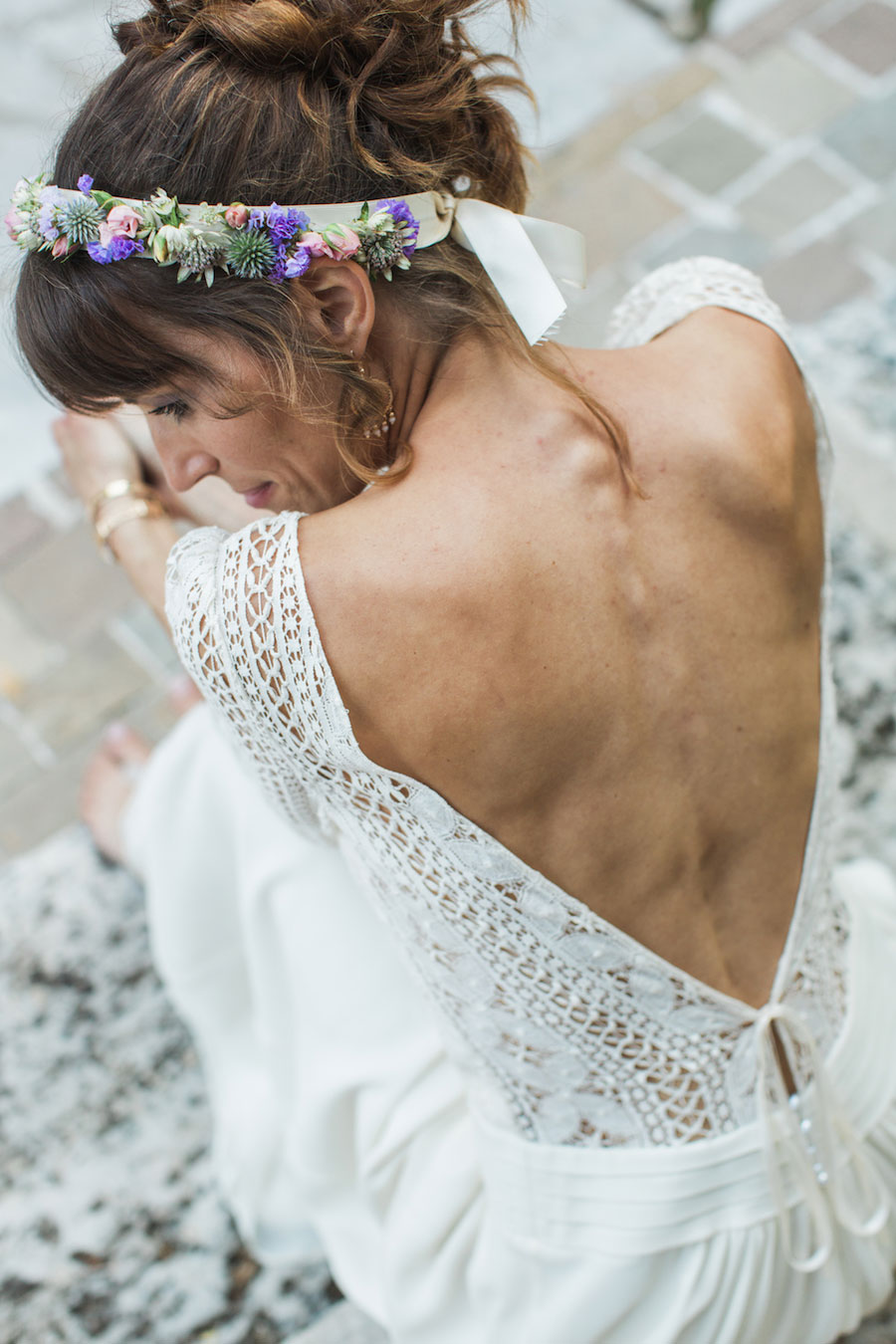 Chic Spring Bride In Laura de Sagazan Gown- Anne & Matthieu0072