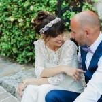 Boho Spring Bride In Laure de Sagazan Gown: Anne & Matthieu