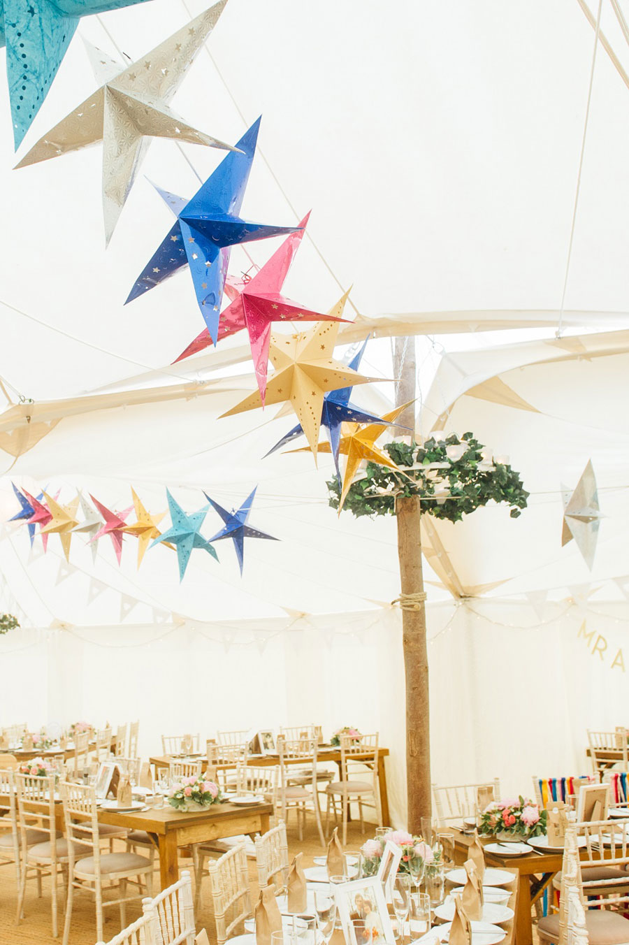Midsummer Magic- Colourful Star Lantern & Elegant Tents Wedding0060
