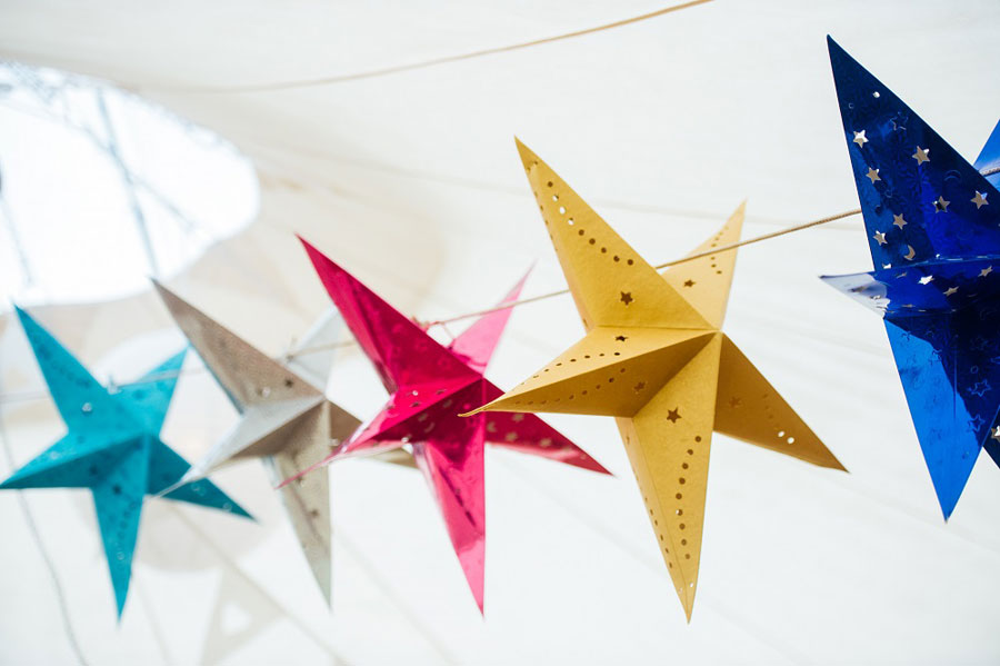 Midsummer Magic- Colourful Star Lantern & Elegant Tents Wedding0081