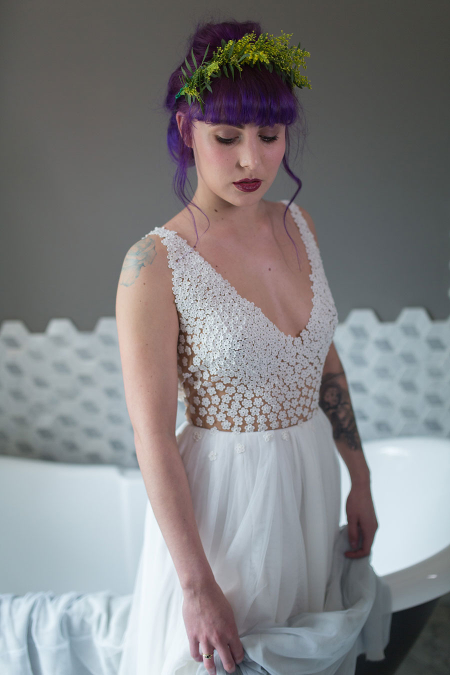 Colourful quirky wedding dresses for non traditional for Where to buy non traditional wedding dress
