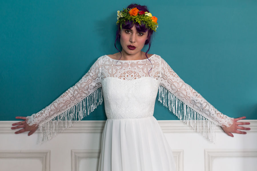 Colourful & Quirky Wedding Dresses For Non-Traditional Brides: Lucy Can't Dance