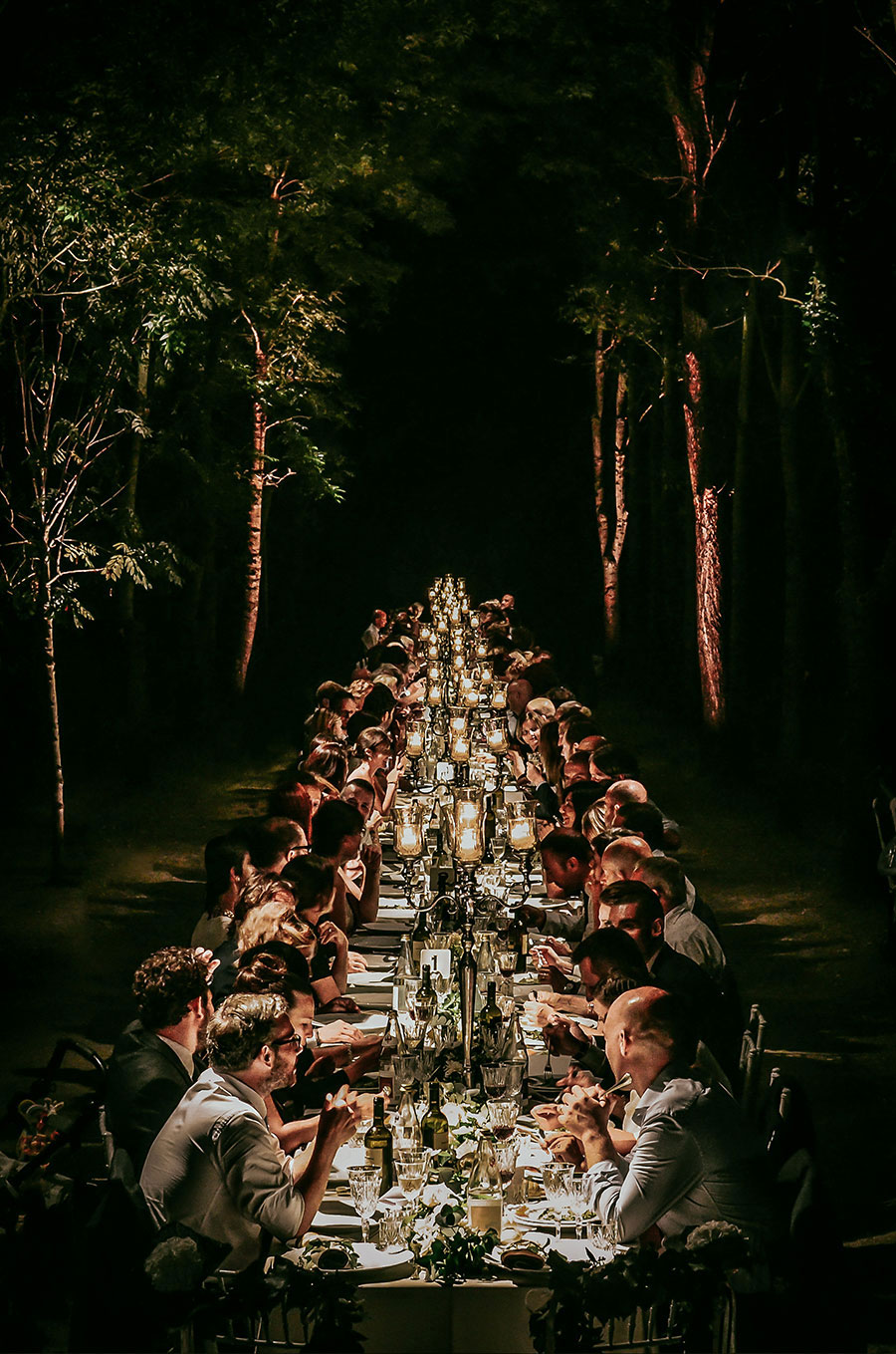A Wonderful Garden Wedding With Dinner In The Woods!0056