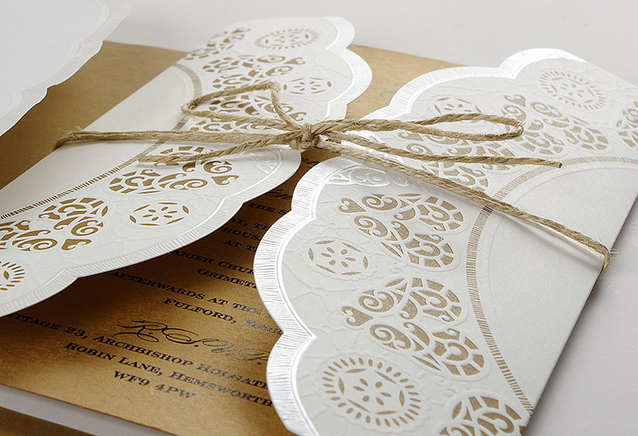 Glam Pretty Handcrafted Artisan Wedding Cards Stationery by