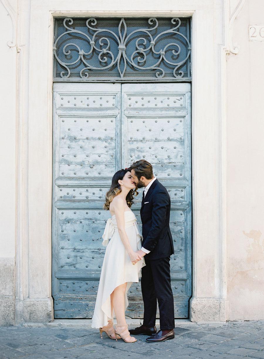 Romantic Blush, Green & Marsala! Incredible Rome Vow Renewal ...