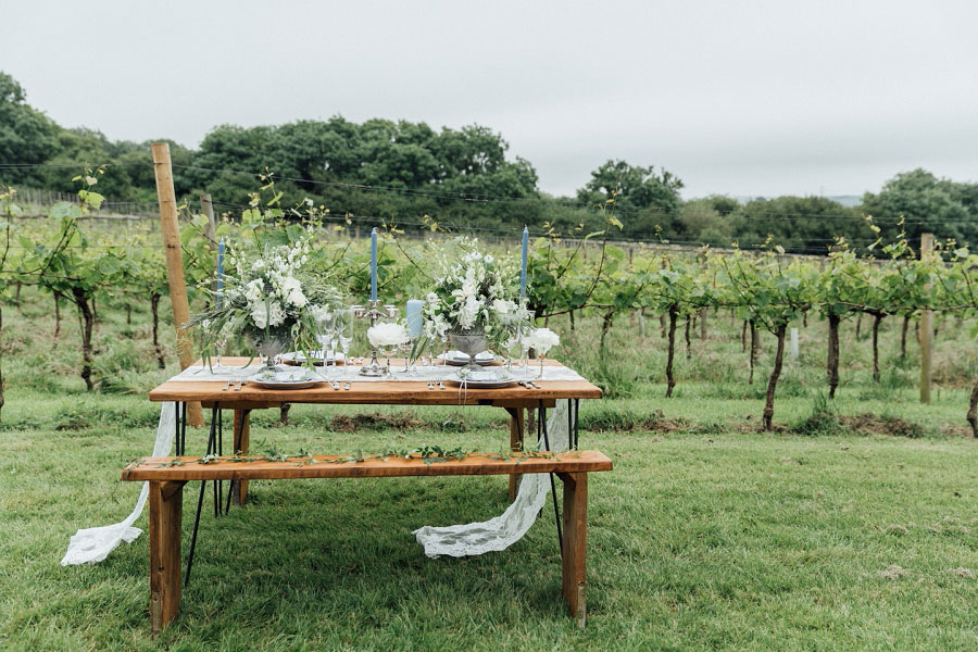 Romantic Vineyard Bridal Shoot With Dusty Blues & Greys0043