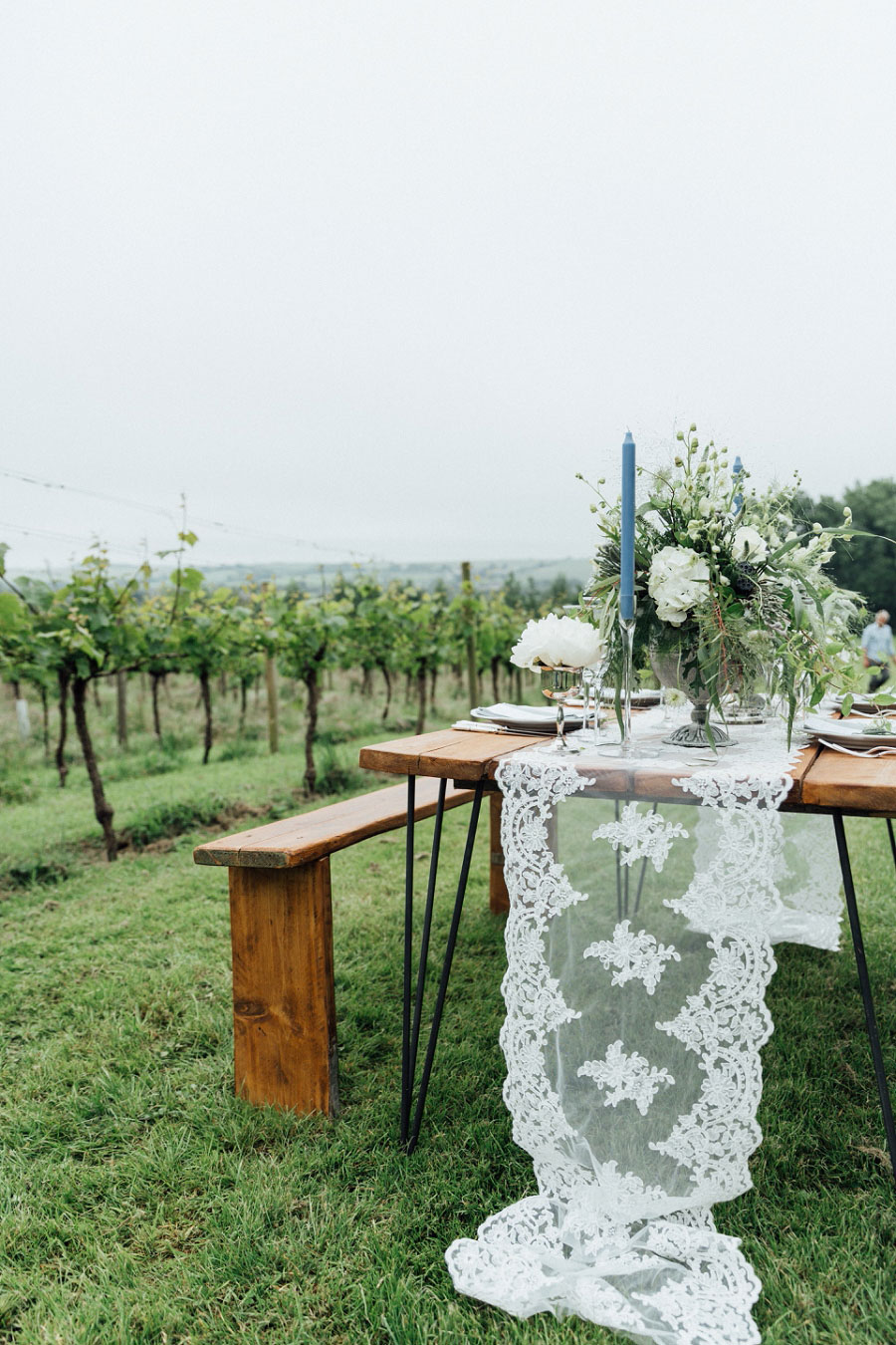 Romantic Vineyard Bridal Shoot With Dusty Blues & Greys0049
